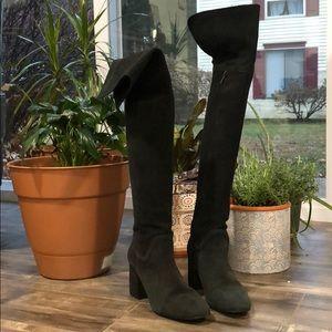 Zara Suede Knee-High Boots